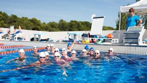 Bluefins swimmers at Spain training camp 2014
